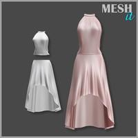 gown cream 3d model