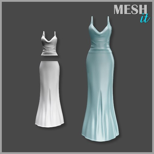 gown blue 3ds