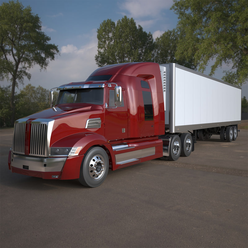 western star 5700 sleeper 3d model