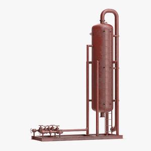 vertical oil gas separator 3d model