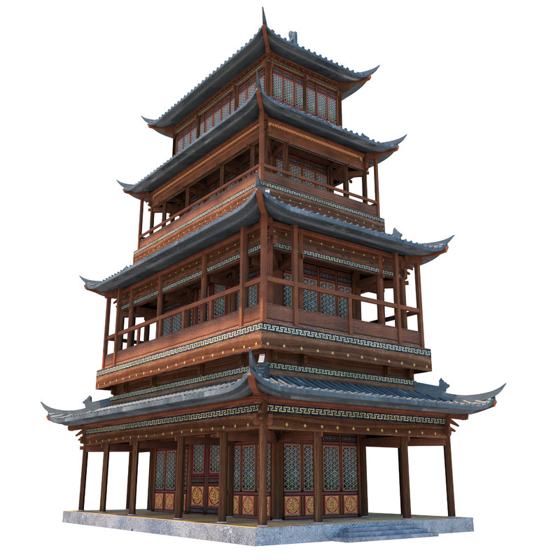 ancient chinese house 3d max