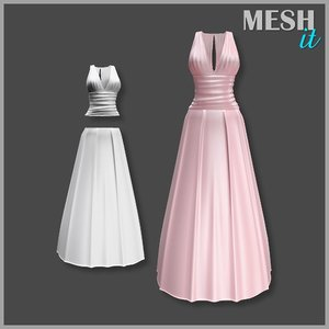 gown pink 3ds