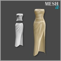 gown beige 3d 3ds