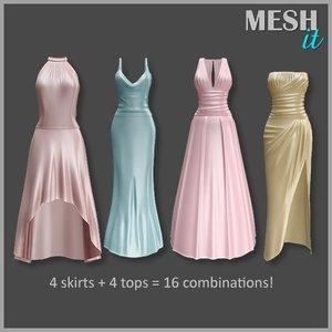 3d gown kit model