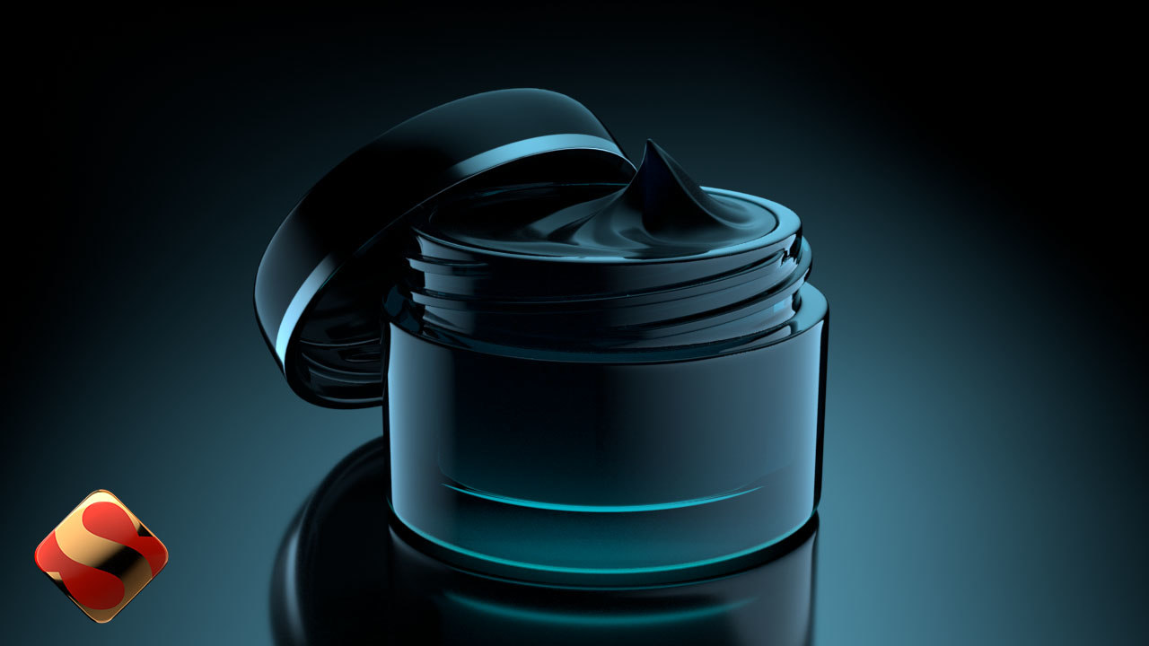 3d model of facial creme jar