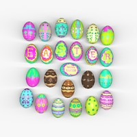 easter eggs 3d obj