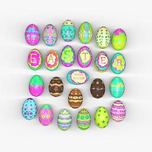easter eggs 3d obj