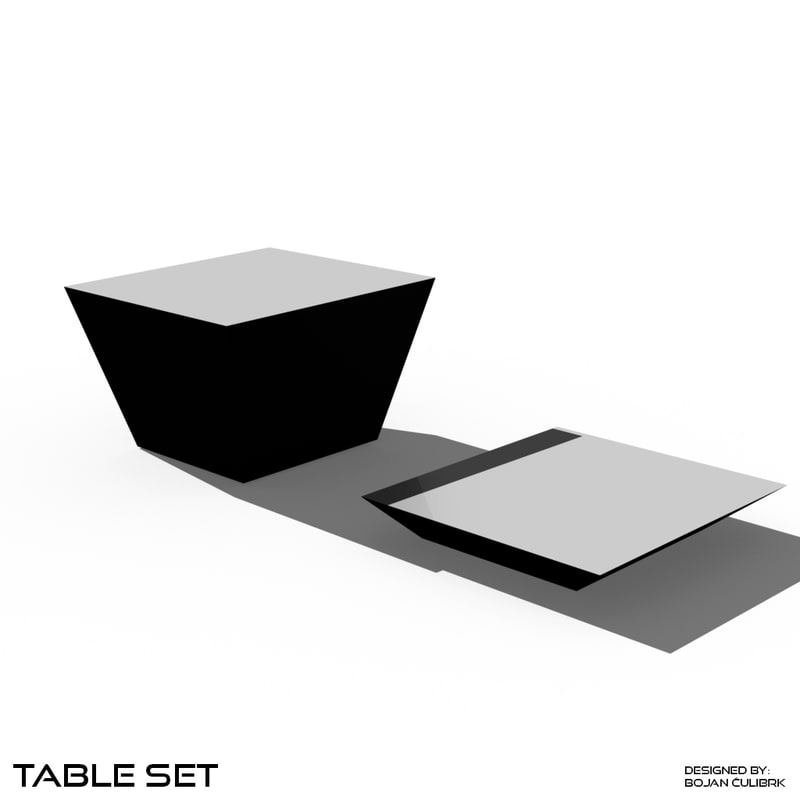 3d table set