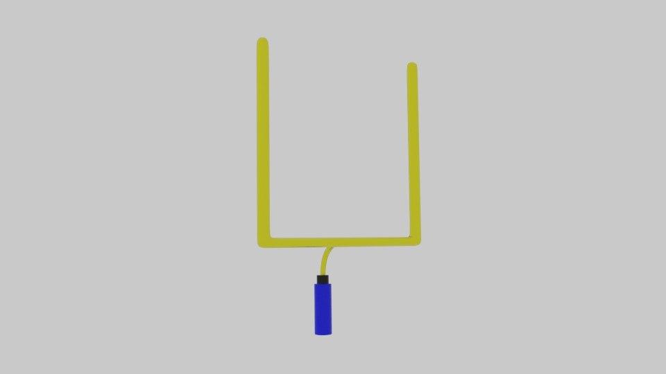 3d model of superbowl pole