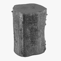 stool tree trunk jason 3d model