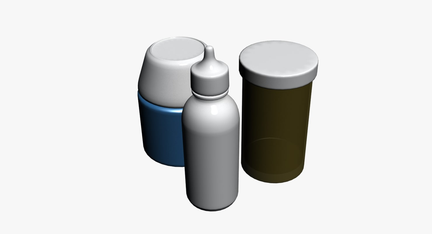 pill containers 3d max