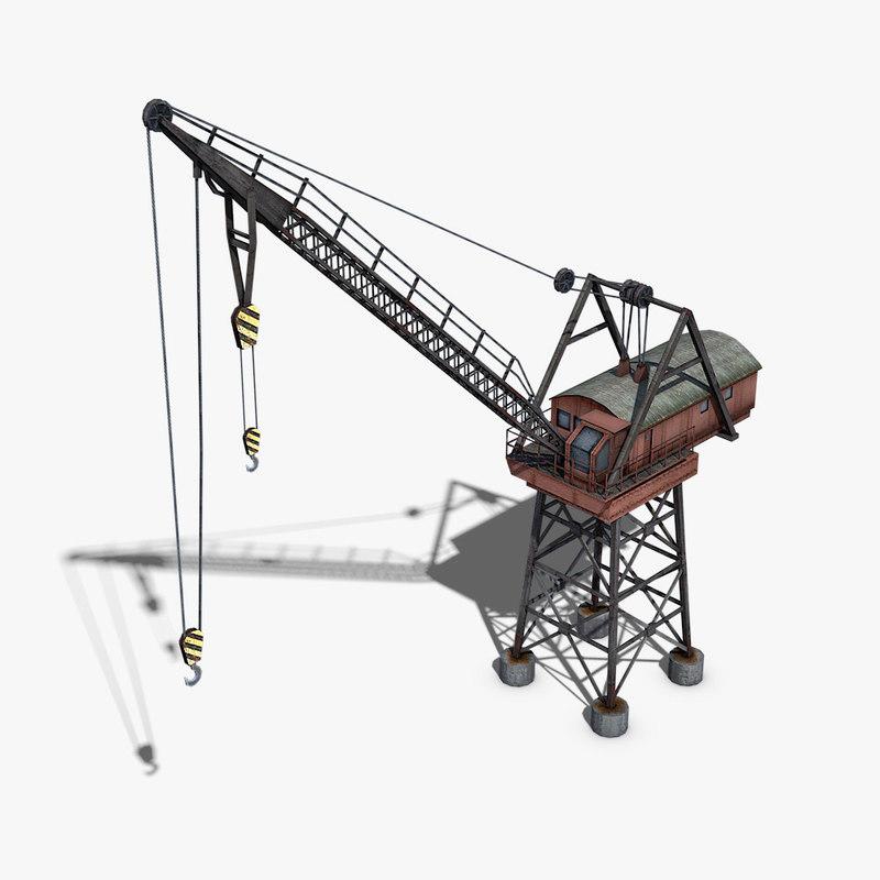 dock crane 3d model