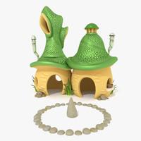 3d obj fantasy house
