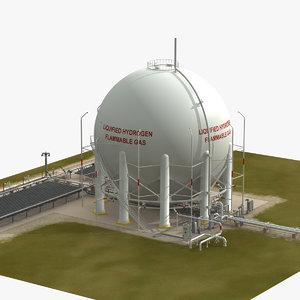 3d model lh2 storage facilities shuttle launch