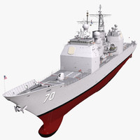 Ticonderoga Class Cruiser Lake Erie CG-70 3D Model