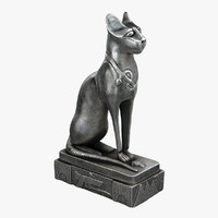 3d 3ds egyptian cat statue
