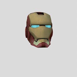 free fbx model ironman s helmet