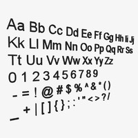 ariel font alphabet 3d model