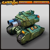 Cartoon heavy tank