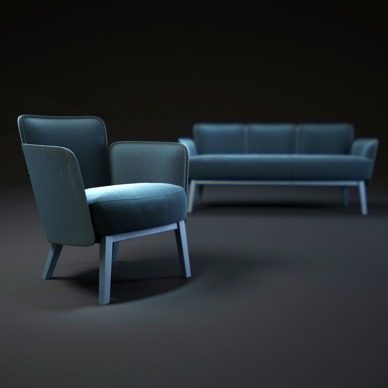 sofa-and-armchair-farg 3d model