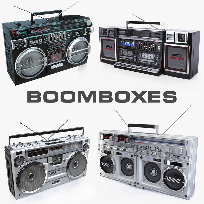3d old boomboxes