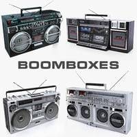 Collection of old boomboxes Sharp and Crown