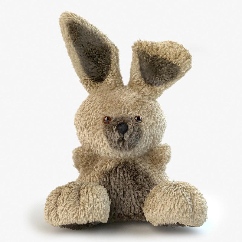 3d plushy bunny model