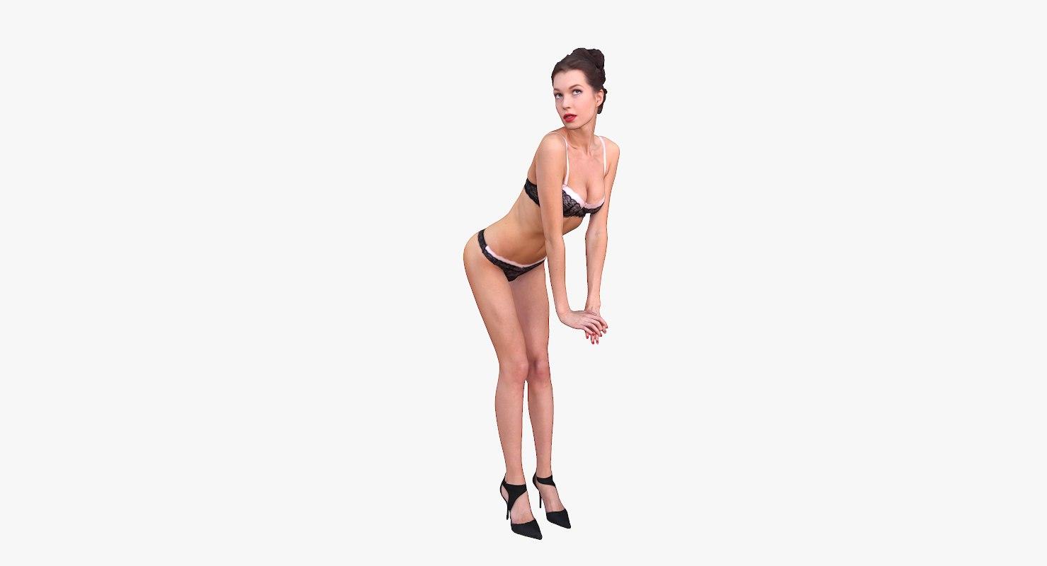 max woman underwear posing