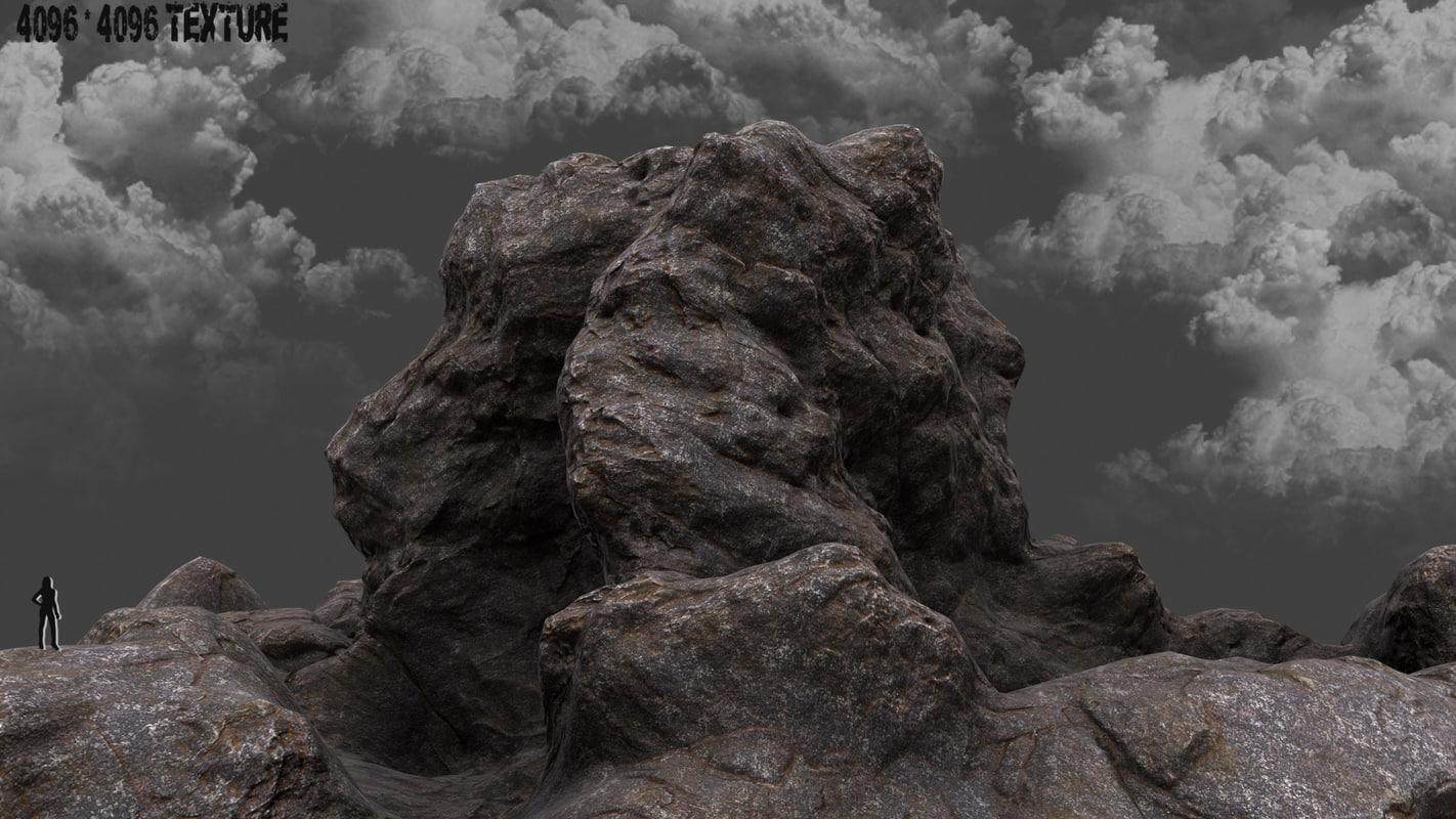 mountain 3d obj