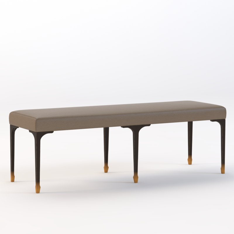 3d pointu bed bench
