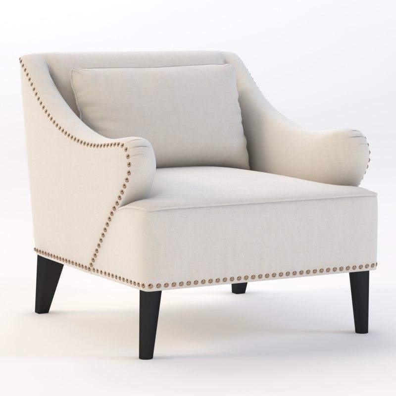 3d model chair baker avenue