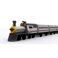 3d model cartoon locomotive