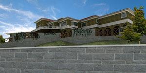3d latin hacienda modern mansion