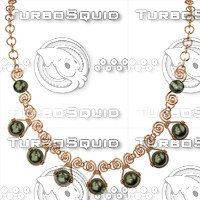 necklace 3d obj