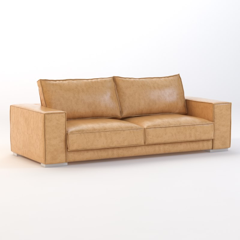 3d model sofa sunpan baretto