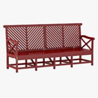 outdoor garden bench 3d model