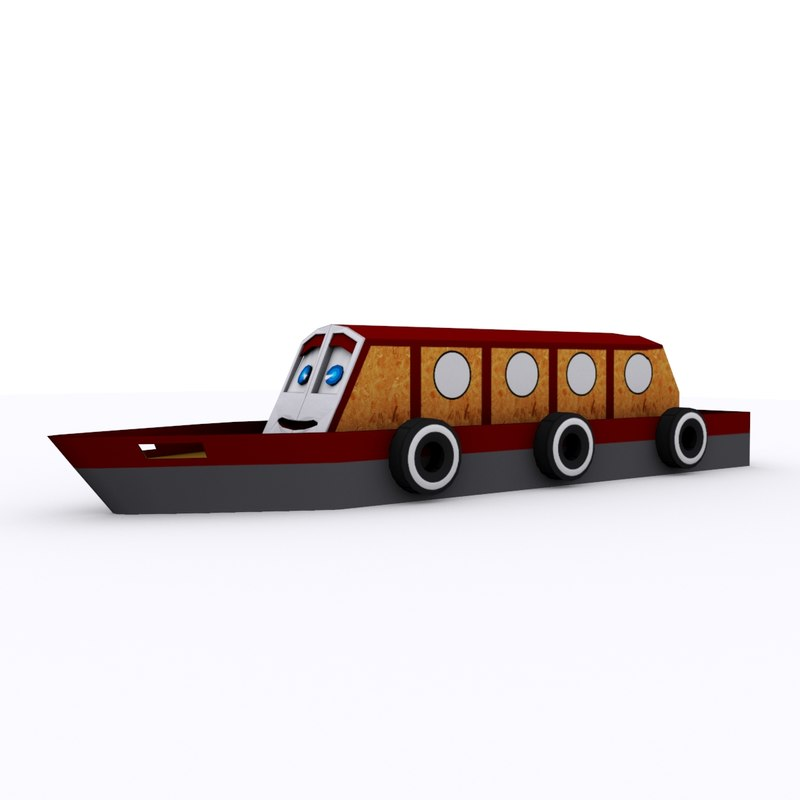 cartoon narrow boat 3d max