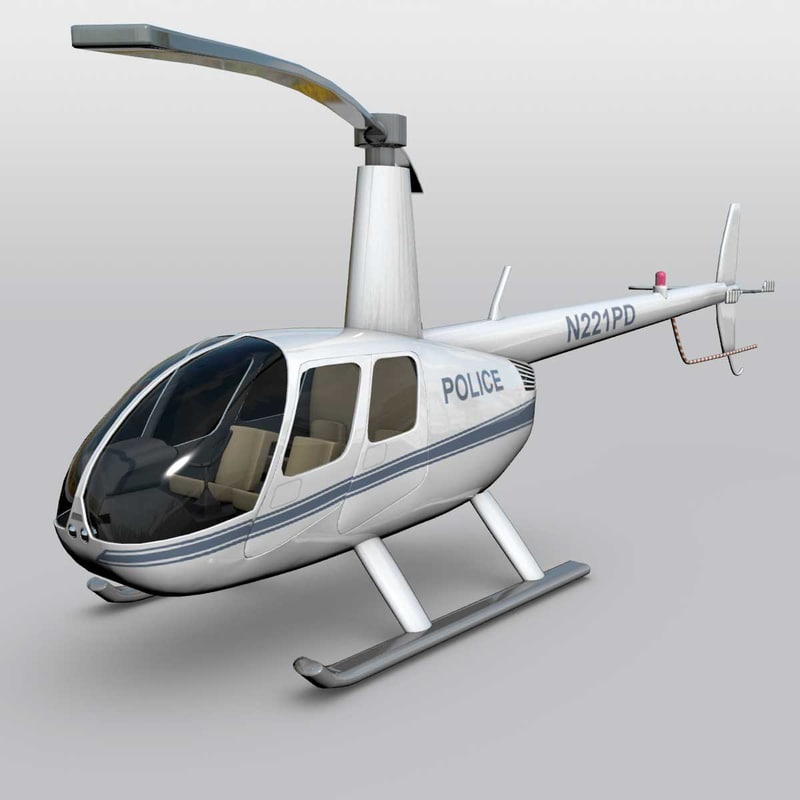 3d helicopter rotary model