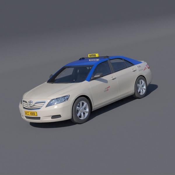 3d toyota camry dubai taxi
