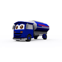 cartoon oil truck