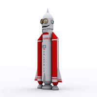 cartoon rocket max