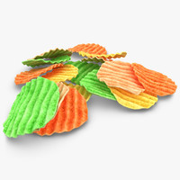 realistic veggie chip 3ds
