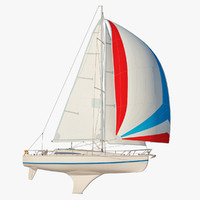 princess ii sailboat sails 3d max