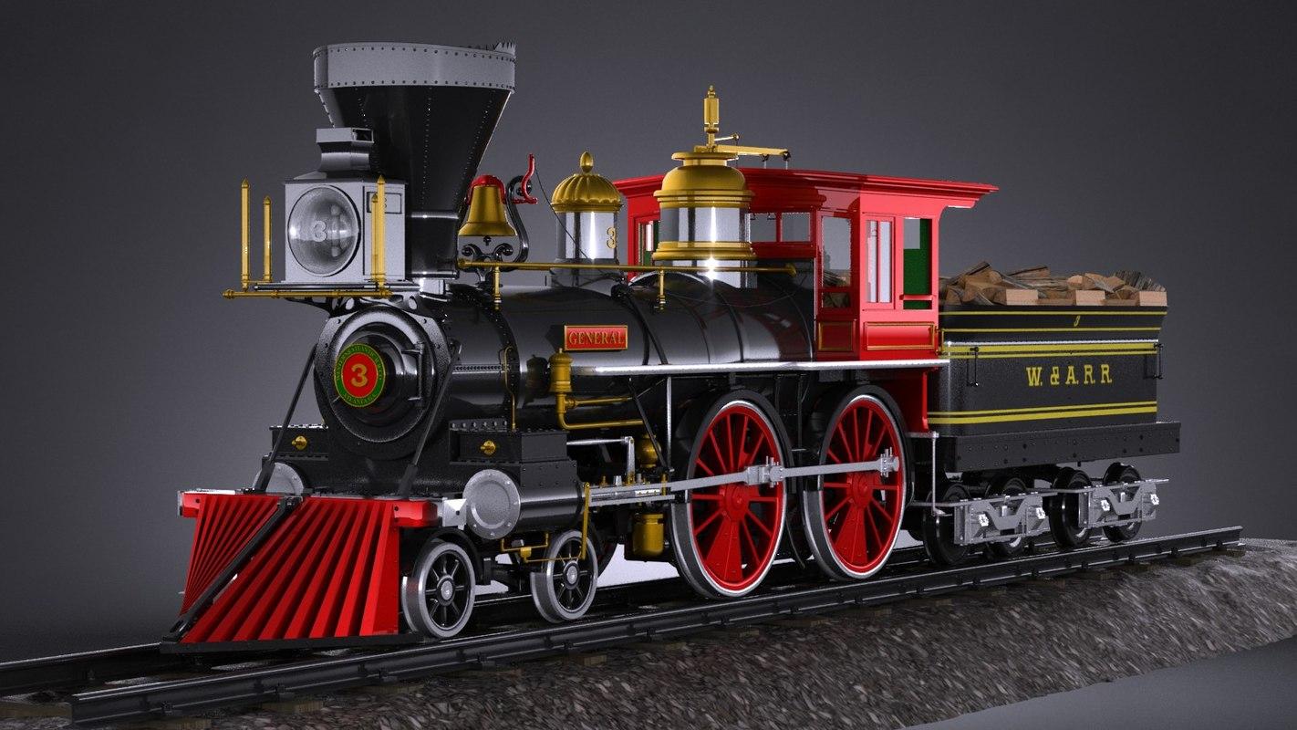 general 4-4-0 steam 3ds