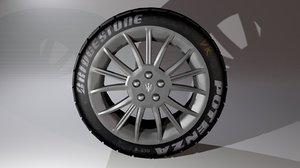 3d bridgestone tire
