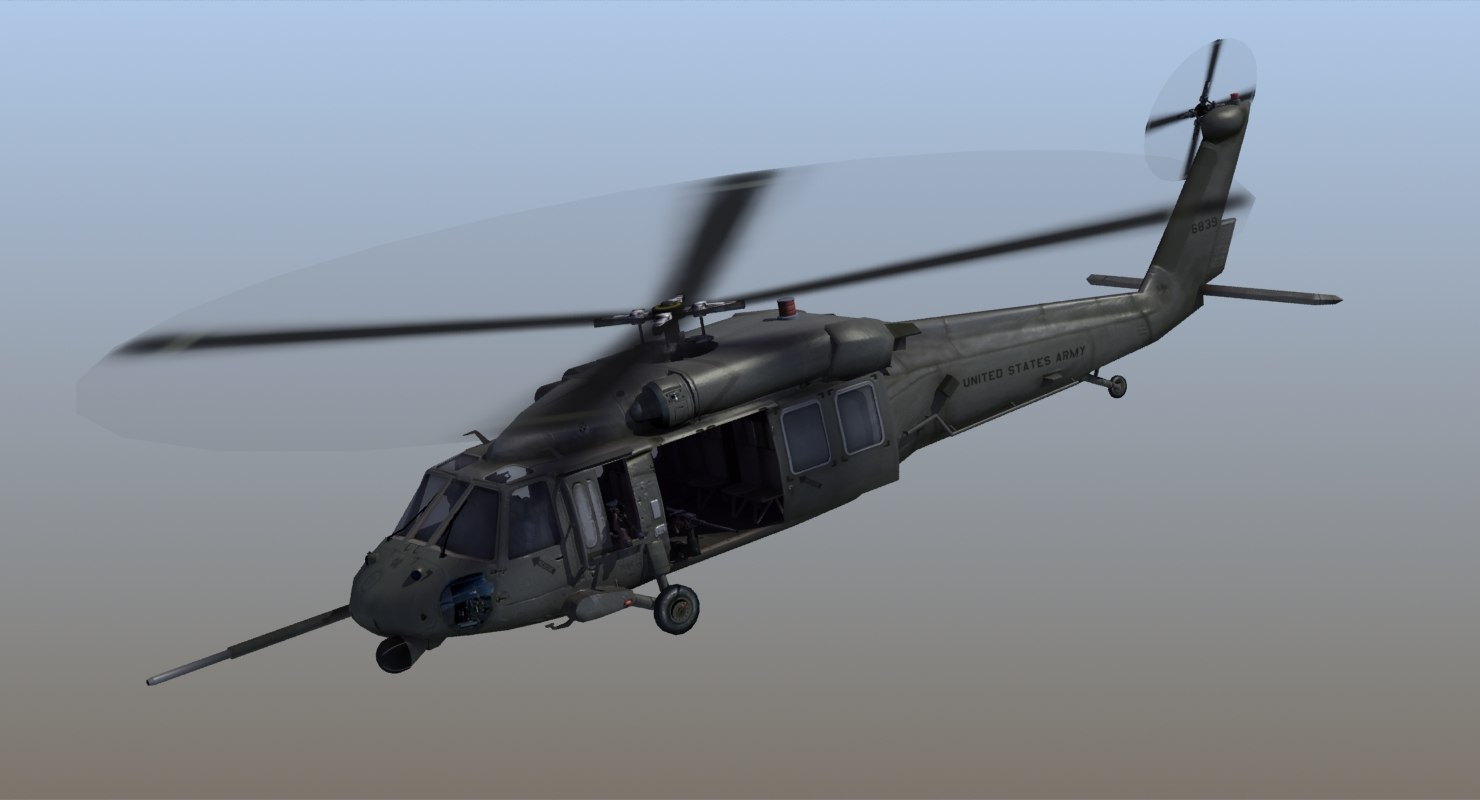uh60 blackhawk helicopter 3d 3ds