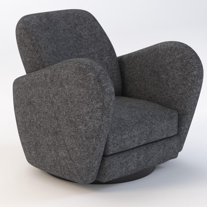 3d 3ds chair vladimir kagan