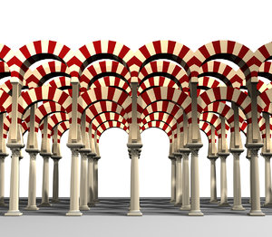 3d model cordoba s mosque colonnade