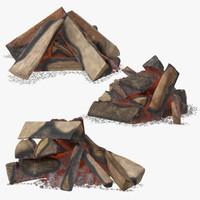 woods coals 3d obj
