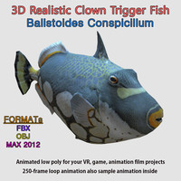 clown trigger fish rigged max
